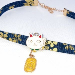 Lucky Cat Japanese Style Choker